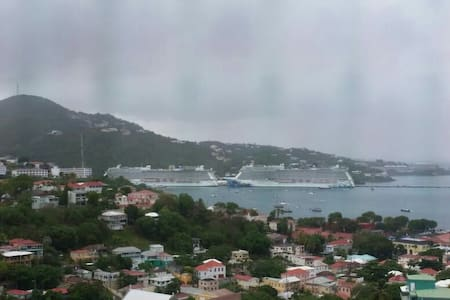 Cruise view 3 mins from downtown!! - Charlotte Amalie - Apartment