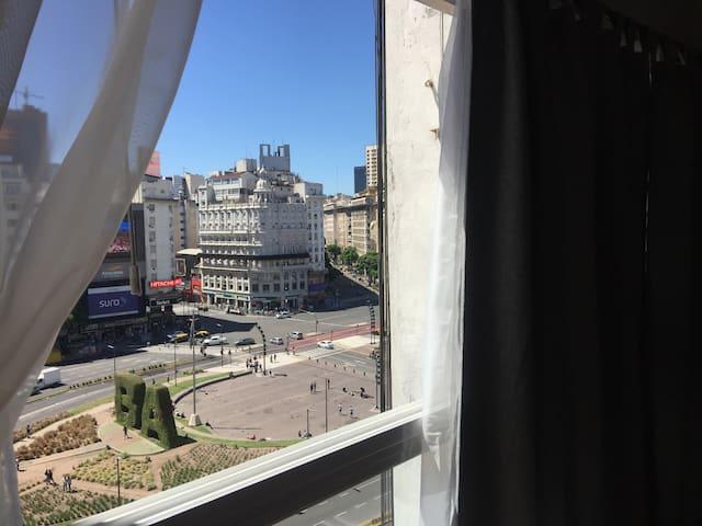 parte de la hermosa vista desde ventana