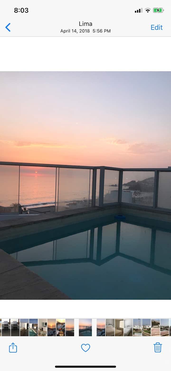 Duplex Santa Maria , Piscina, BBQ, vista al Mar