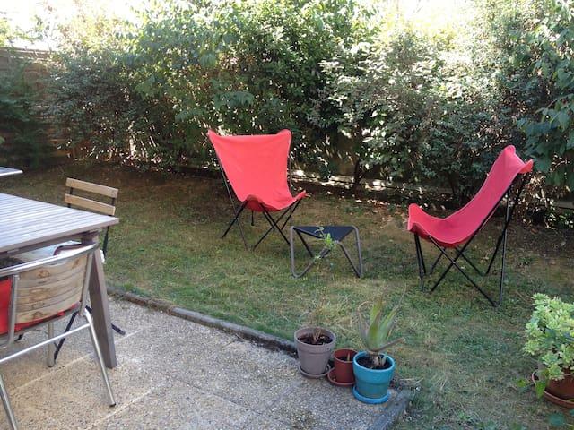 T2 jardin, prox Gd stade OL lumière - Vaulx-en-Velin - Apartment