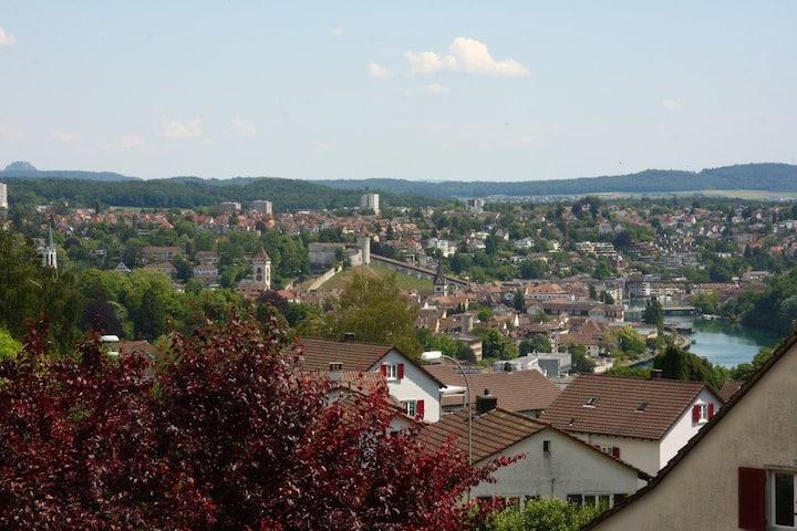 Quiet location near the center /near the Rhinefall