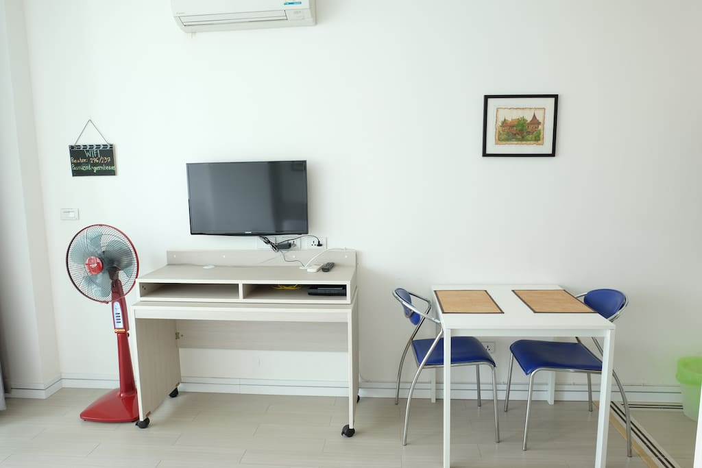 TV, Fan, WIFI and dinning