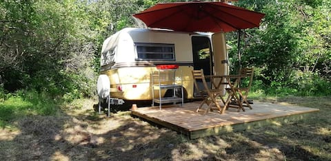 Waterview Vintage Camper at Wild Woods Hideaway