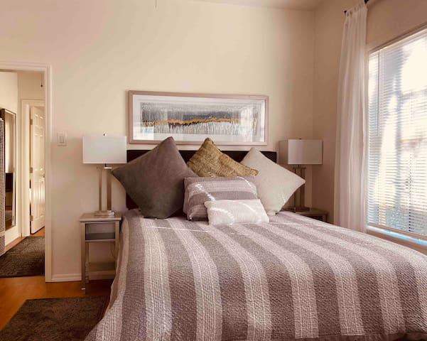 The master bedroom of the 1 bedroom townhouse.