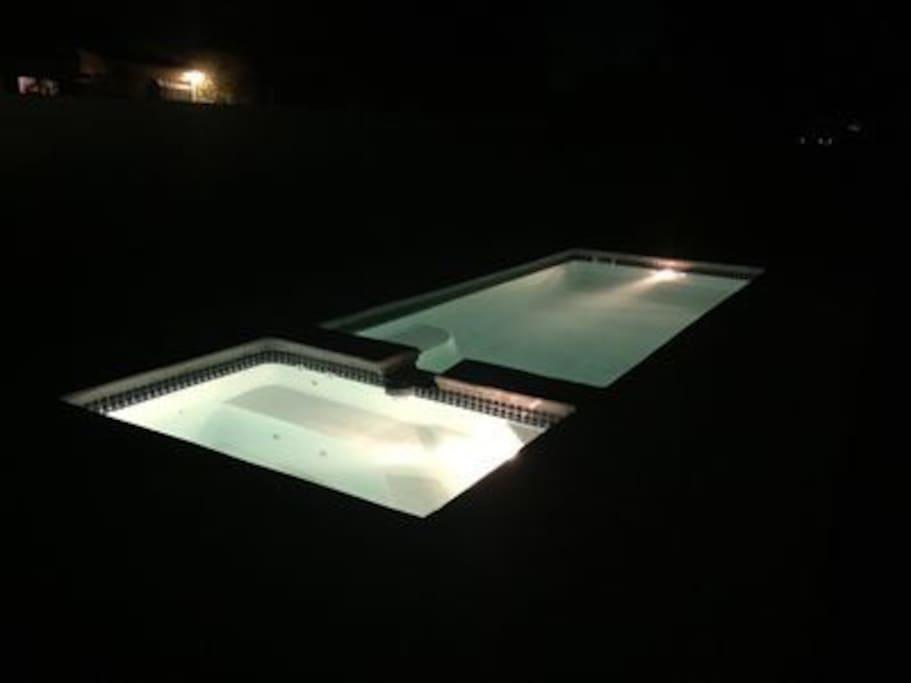 Nighttime pool lights