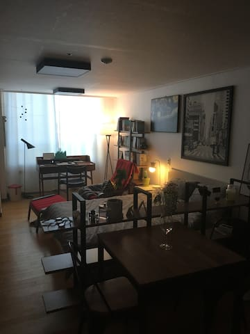 기본적인 물품이 다양하고 교통접근성이 편리한 소형 아파트
