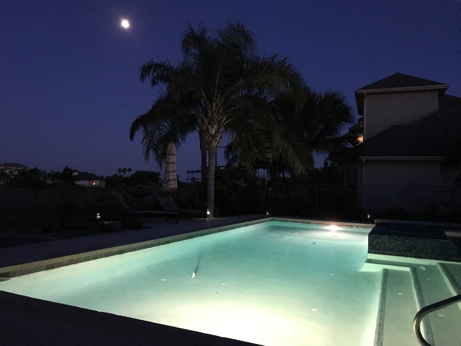 Pool and hot tub is available to use until 9:00 p.m.