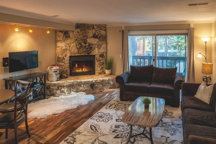 Smart TV with DIRECTV + Gas Fireplace