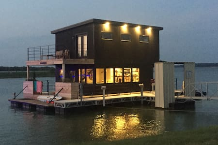 Waco Houseboat as seen on Fixer Upper