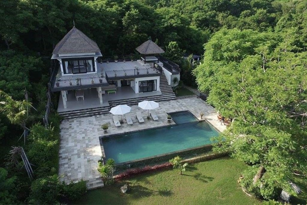 At the mountain of SingSing waterfall lays this beautiful private villa