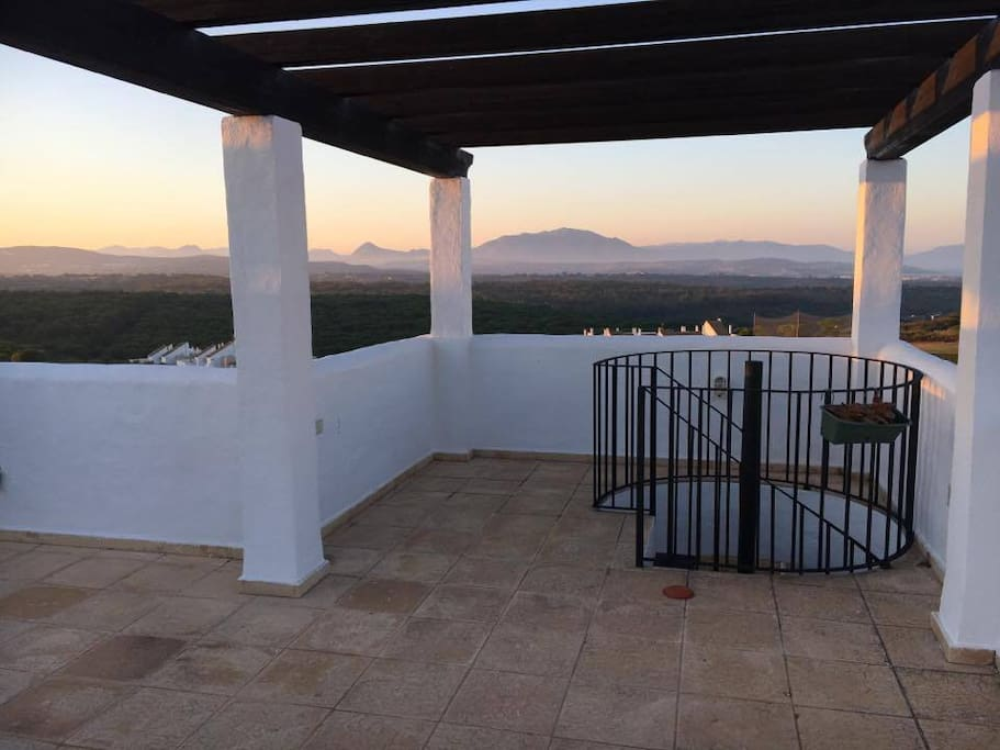 Huge roof terrace, perfect for sunsets and BBQ