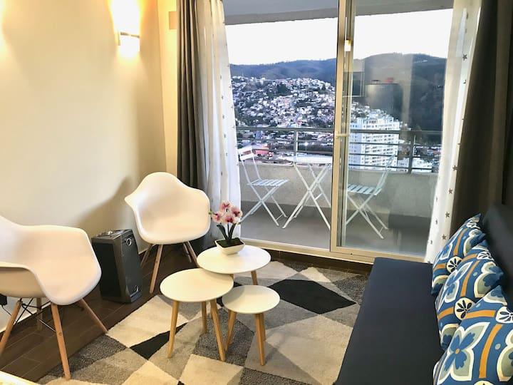 Departamento Nuevo en Valparaíso, Hermoso y Cómodo