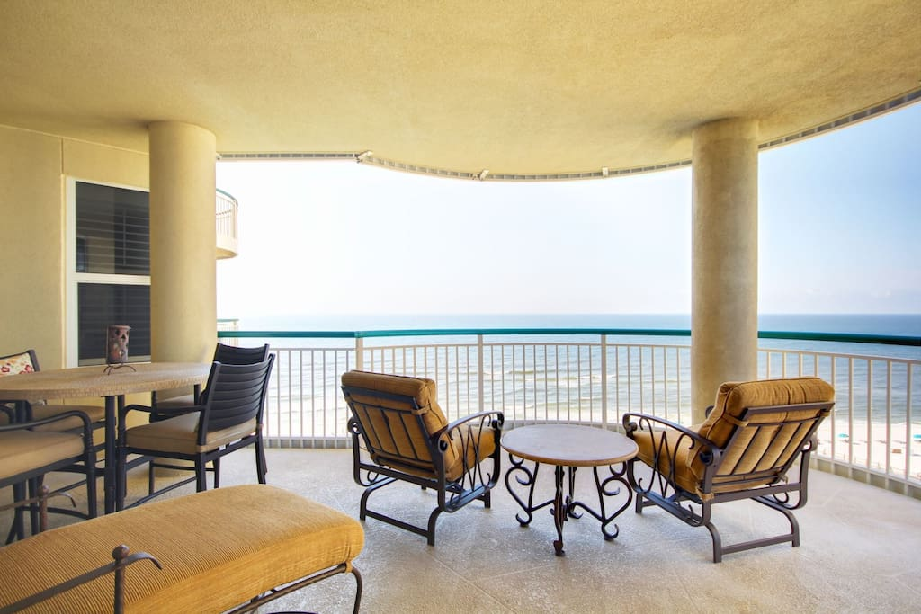 Enjoy the day on your 300 Sq Ft Balcony