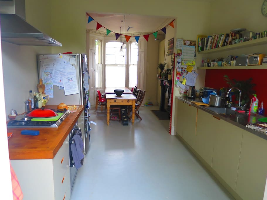 Well equipped kitchen-diner with dishwasher. A separate utility room is on the lower ground floor