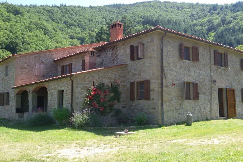 I piani un fresco rifugio nel bosco a londa toscana italia for Piani casa degli ospiti