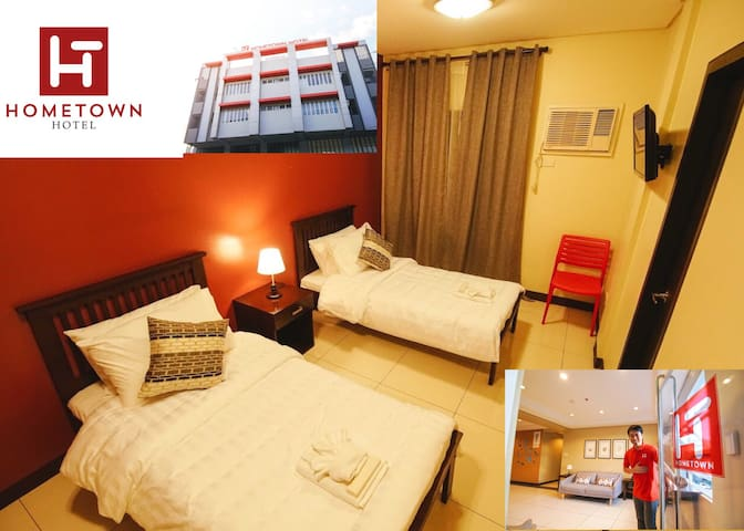 Accessible Makati hotel room for 2-4 w/ Breakfast
