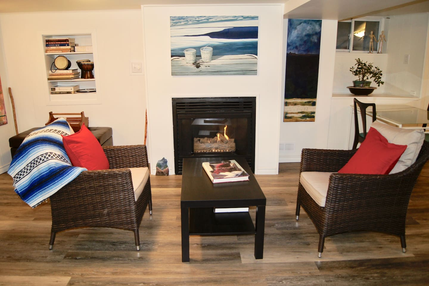 warm, inviting...sit in front of the fire and have a glass of wine