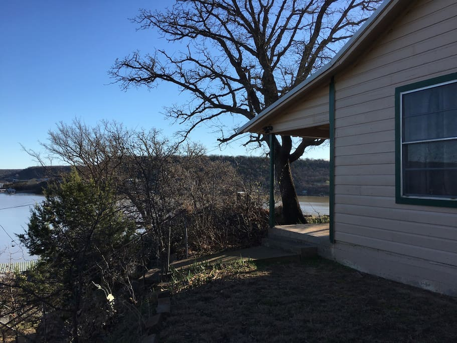 Lakeview from back of cabin.
