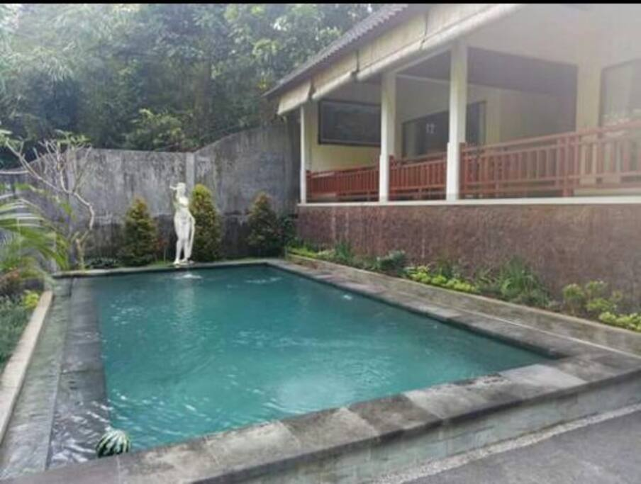 this is a 1 villa with two bed room.and with private pool