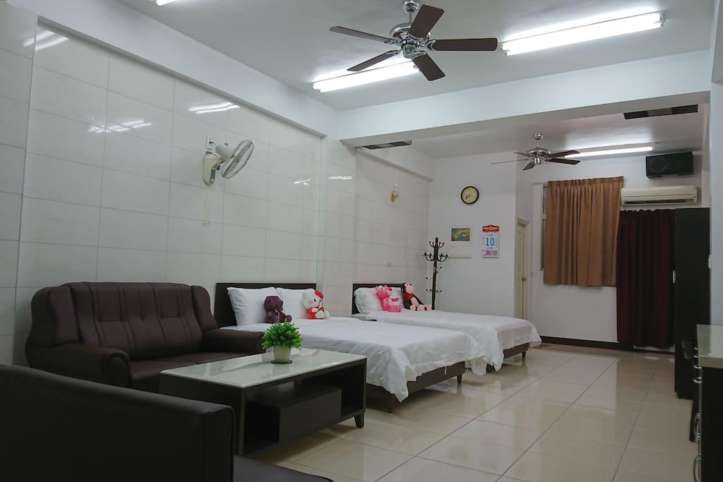 20坪寬敞,乾淨舒適的居住空間。