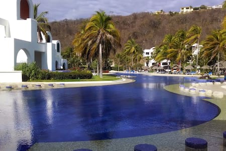 2 Rooms/3 Bathr, Oceanfront Suite, Huatulco Mexico - Crucecita