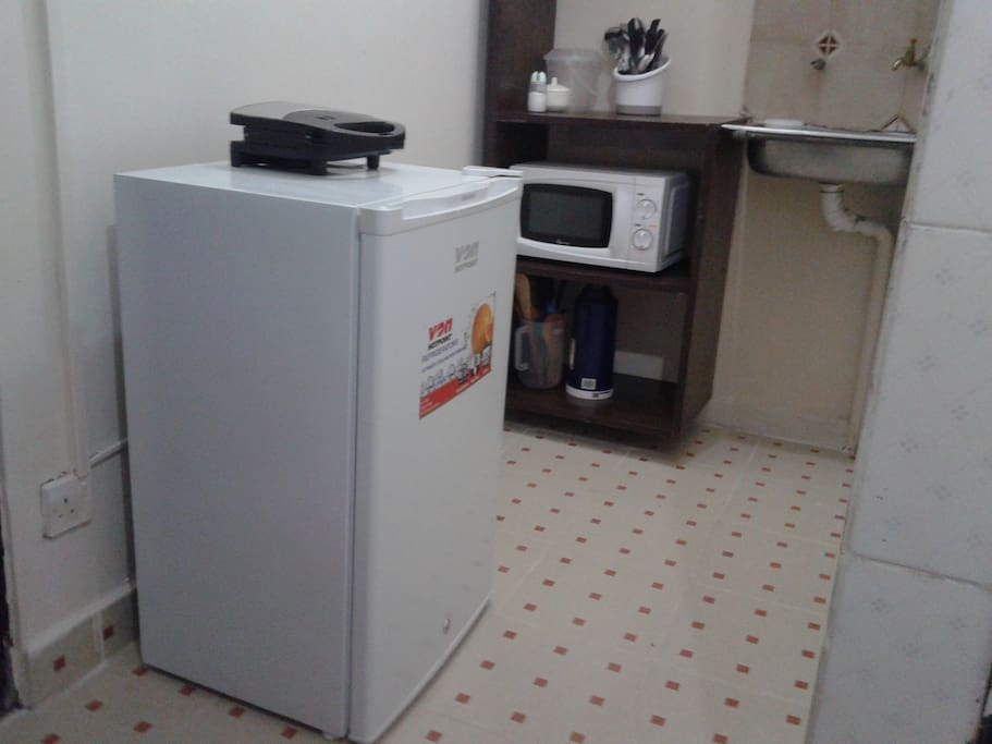 Kitchenette area with several accessories,ready for immediate use