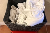 Fresh, clean towels always available