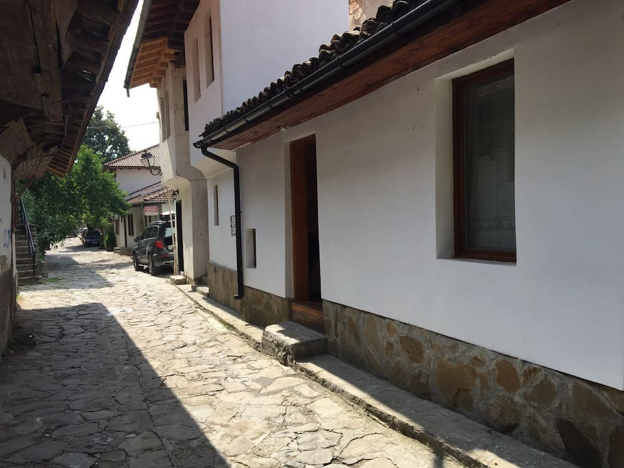 Outside view of the house and the historical Gen. Gurko Street.