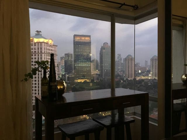Amazing City View from the Cozy Apt - central Jakarta  - Apartamento