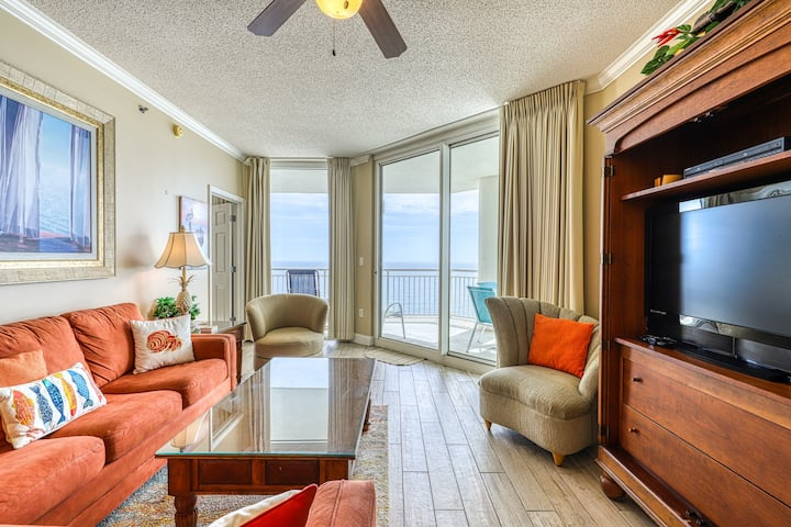 16th Floor Gulf Front Rental In High Rise Property, Close To Dining