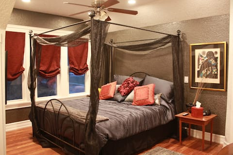 Steel Horse room features a comfort-rest mattress with dual air controls.