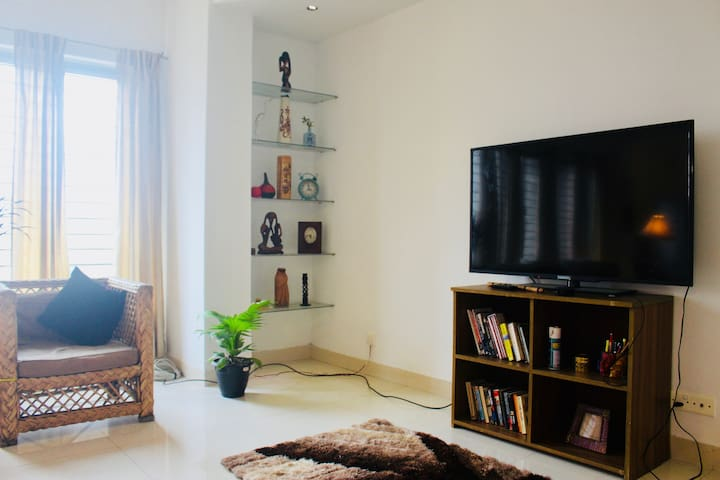 Large LED TV with Cable