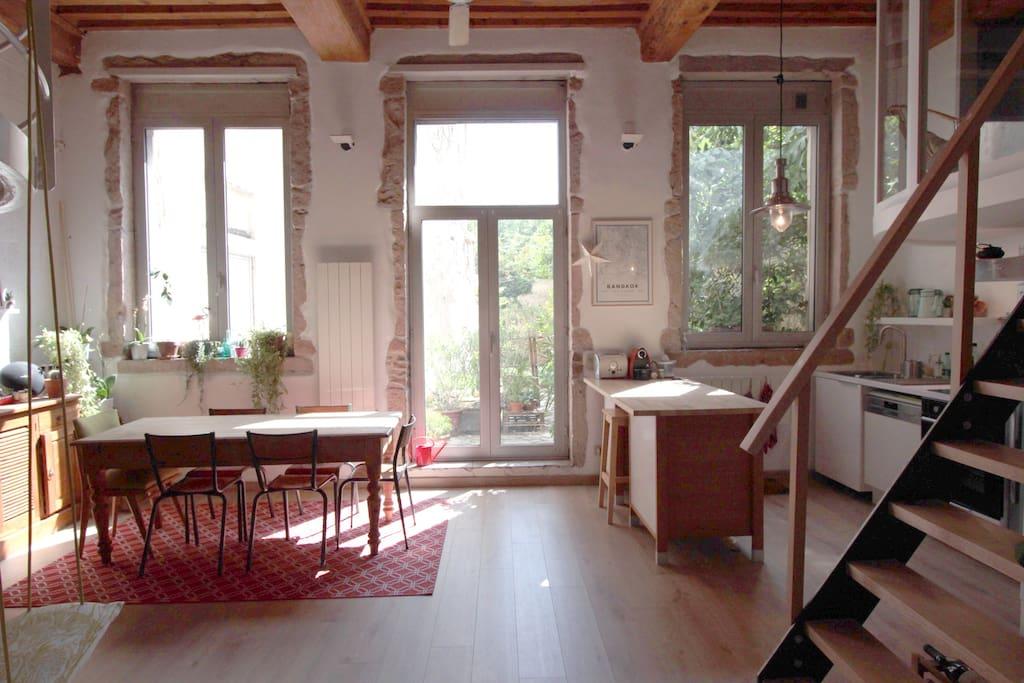 Un appartement lumineux au coeur des pentes de la Croix-rousse