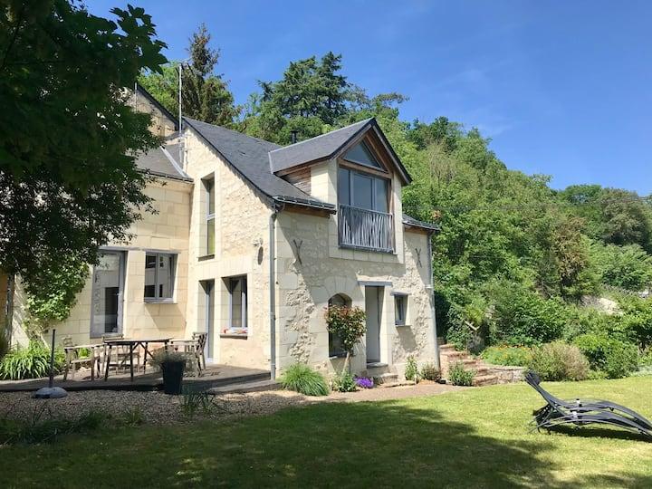 Maison de charme, 4 p, vue Val de Loire