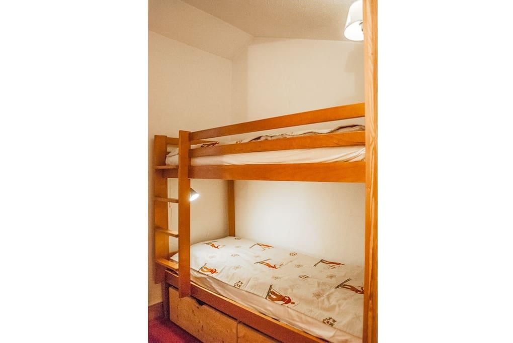 coin avec lit superposé (sans fenêtre)