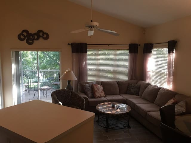 Living Space With Outside Patio