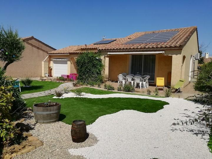 Villa méditerranéenne avec jardin à Salles d'Aude