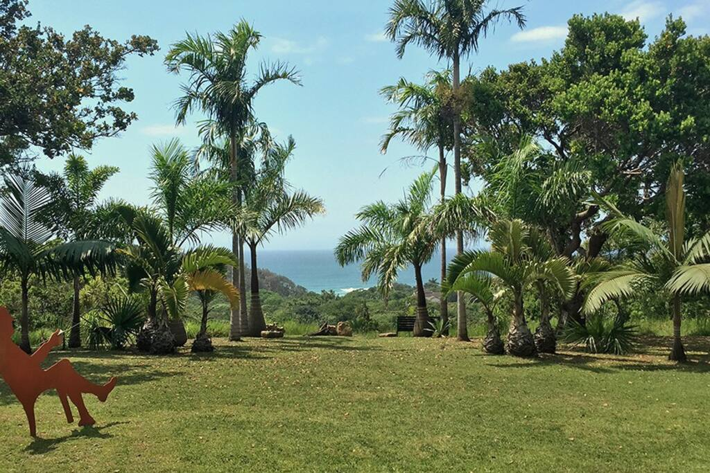 Front lawn with views of warm Indian Ocean