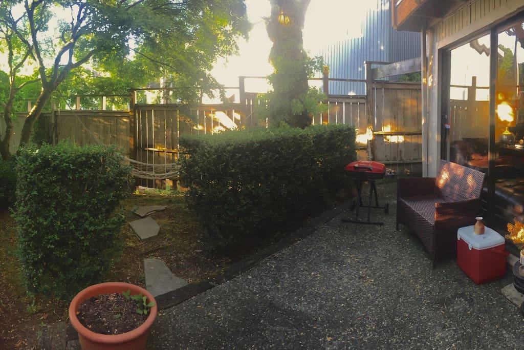 The Hammock and garden
