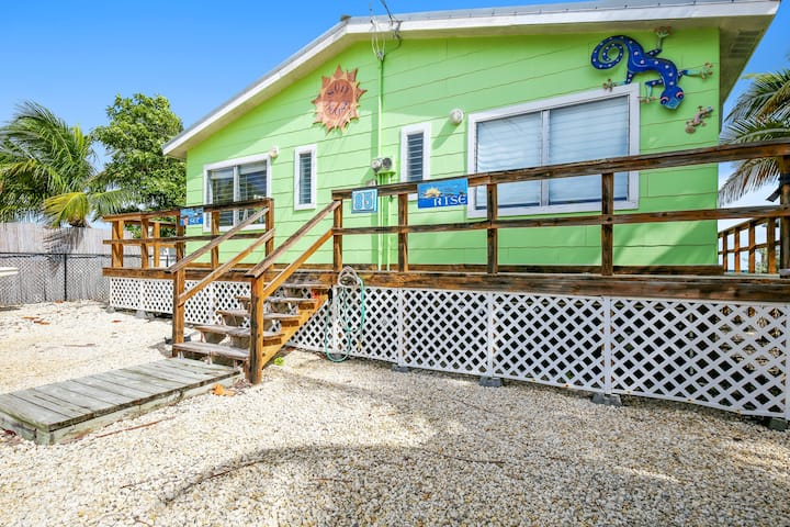 New listing! Oceanfront duplex home with private dock & sunset views!