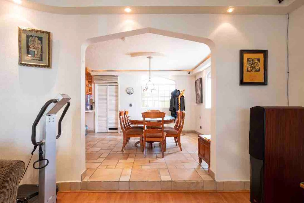 Dining room from living room