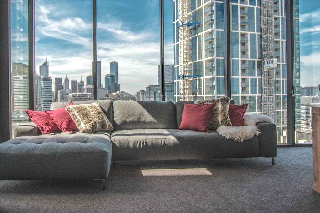 Lay your back on the amazing CBD view!