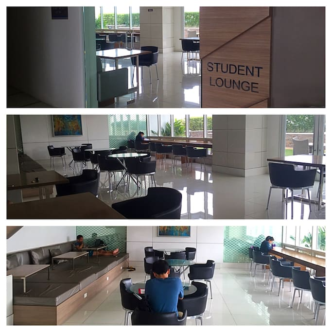 Student's Lounge at the 7F with access to free wifi.