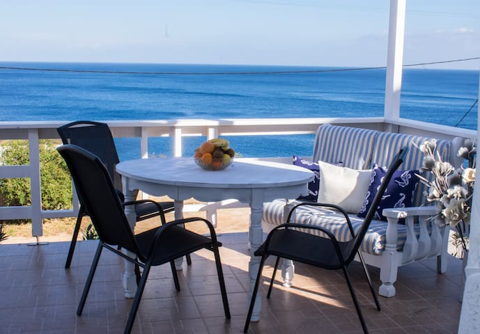 Front porch view! Enjoy a meal with a view!