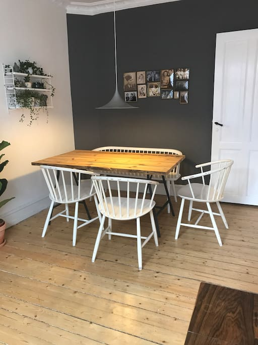 Dining table with room for five