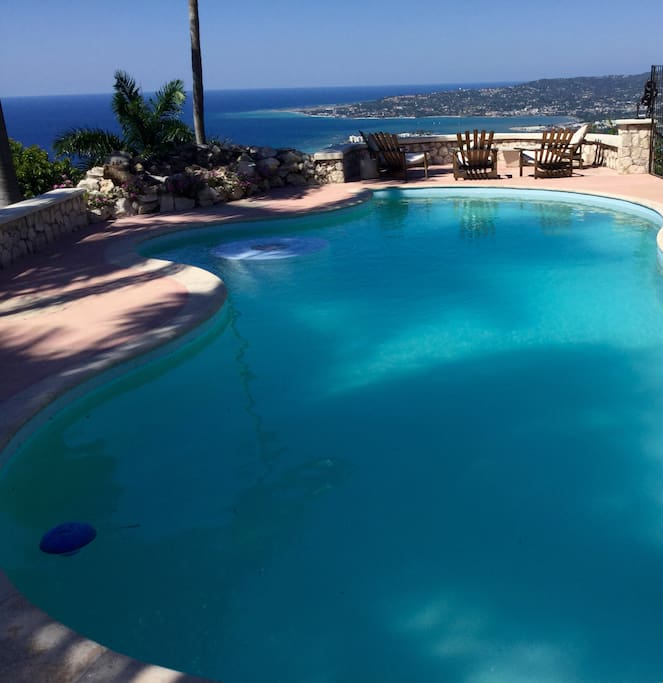 Pool with view of Montego Bay