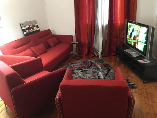 Appt T4 pour 3 couples ou 6 personnes EURO 2016 - Lens - Apartment