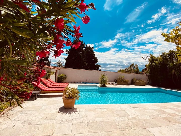 appart 6pers/terrasse-bbk-parking-piscine/20mn mer