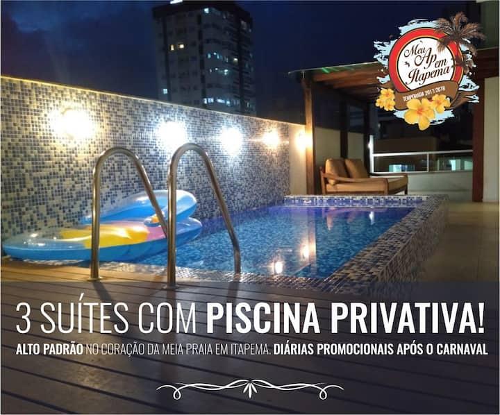 03 suítes com piscina PRIVATIVA. Alto padrão