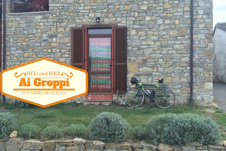 Bed & Bike Ai Groppi Gropparello Camera arancio